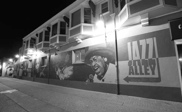 photo of jazz alley mural
